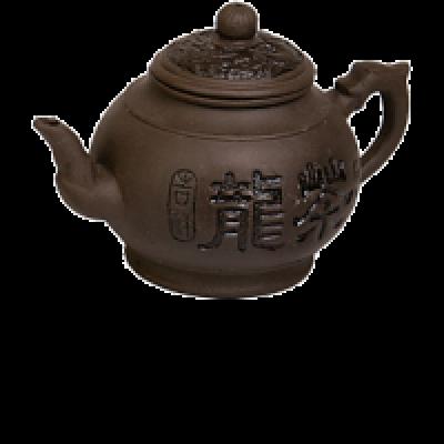 """Чайник """"Чай дракона"""" черный (с заварочной колбой) 1000 мл"""